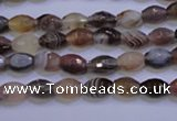 CAG2755 15.5 inches 5*8mm faceted rice botswana agate beads wholesale