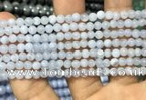 CAG3576 15.5 inches 4mm round blue lace agate beads wholesale