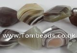 CAG3732 15*18mm – 20*23mm faceted freeform botswana agate beads