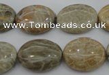 CAG3903 15.5 inches 15*20mm oval chrysanthemum agate beads