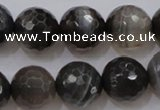 CAG3952 15.5 inches 10mm faceted round grey botswana agate beads