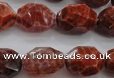 CAG4178 15.5 inches 15*20mm faceted nuggets natural fire agate beads