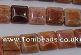 CAG4228 15.5 inches 12*12mm square natural fire agate beads