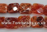 CAG4252 15.5 inches 16*16mm faceted square natural fire agate beads