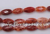 CAG4268 15.5 inches 6*12mm faceted marquise natural fire agate beads