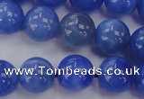 CAG4302 15.5 inches 8mm round dyed blue fire agate beads
