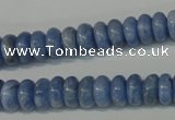 CAG4372 15.5 inches 5*10mm rondelle dyed blue lace agate beads