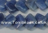 CAG4397 15.5 inches 14*14mm diamond dyed blue lace agate beads