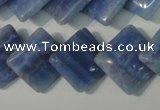 CAG4398 15.5 inches 18*18mm diamond dyed blue lace agate beads