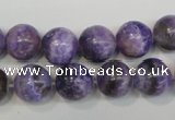 CAG4434 15.5 inches 12mm round dyed blue lace agate beads