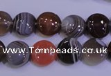 CAG4442 15.5 inches 12mm flat round botswana agate beads wholesale