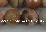 CAG4476 15.5 inches 16mm faceted round pink botswana agate beads