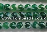CAG4698 15.5 inches 8mm faceted round tibetan agate beads wholesale