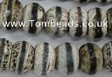 CAG4728 15 inches 12*16mm faceted rondelle tibetan agate beads wholesale