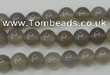 CAG4771 15 inches 8mm round grey agate beads wholesale