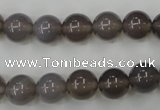 CAG4772 15 inches 10mm round grey agate beads wholesale