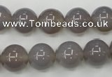 CAG4773 15 inches 12mm round grey agate beads wholesale