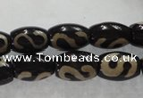 CAG5081 15.5 inches 8*12mm drum tibetan agate beads wholesale
