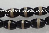 CAG5082 15.5 inches 8*12mm drum tibetan agate beads wholesale