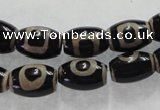 CAG5089 15.5 inches 8*12mm drum tibetan agate beads wholesale