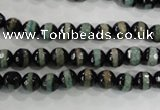 CAG5135 15 inches 6mm faceted round tibetan agate beads wholesale