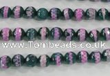 CAG5137 15 inches 6mm faceted round tibetan agate beads wholesale