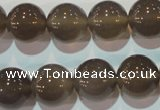 CAG5244 15.5 inches 14mm round Brazilian grey agate beads wholesale