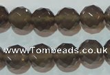 CAG5249 15.5 inches 12mm faceted round Brazilian grey agate beads
