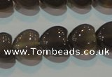 CAG5265 15.5 inches 12*12mm heart Brazilian grey agate beads