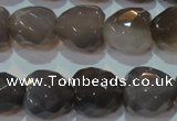 CAG5268 15.5 inches 16*16mm faceted heart Brazilian grey agate beads
