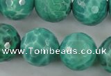 CAG5314 15.5 inches 14mm faceted round peafowl agate gemstone beads