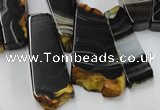 CAG5463 15.5 inches 16*26mm - 20*66mm freeform agate gemstone beads