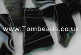 CAG5465 15.5 inches 16*26mm - 20*66mm freeform agate gemstone beads