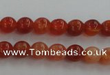 CAG5560 15.5 inches 4mm round natural fire agate beads wholesale