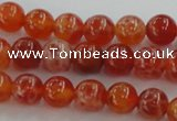 CAG5561 15.5 inches 6mm round natural fire agate beads wholesale