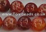 CAG5564 15.5 inches 12mm round natural fire agate beads wholesale