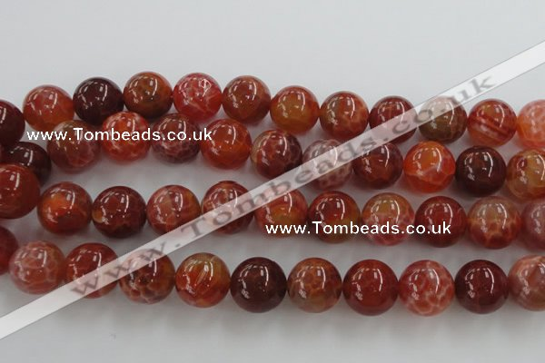 CAG5566 15.5 inches 16mm round natural fire agate beads wholesale
