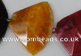 CAG5589 15 inches 30*42mm faceted triangle dragon veins agate beads