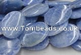 CAG561 16 inches 15*20mm oval blue agate gemstone beads wholesale