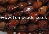 CAG587 15.5 inches 10*14mm faceted teardrop natural fire agate beads