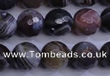 CAG5962 15.5 inches 10mm faceted round botswana agate beads wholesale
