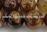 CAG6052 15.5 inches 22mm round dragon veins agate beads