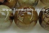 CAG6053 15.5 inches 24mm round dragon veins agate beads