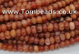 CAG614 15.5 inches 4*6mm rondelle natural fire agate beads