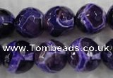 CAG6145 15 inches 10mm faceted round tibetan agate gemstone beads