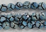 CAG6161 15 inches 10mm faceted round tibetan agate gemstone beads