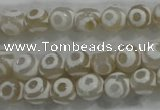 CAG6170 15 inches 8mm faceted round tibetan agate gemstone beads