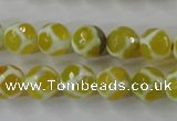 CAG6372 15 inches 12mm faceted round tibetan agate gemstone beads
