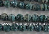 CAG6406 15 inches 8mm faceted round tibetan agate gemstone beads