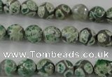 CAG6412 15 inches 14mm faceted round tibetan agate gemstone beads